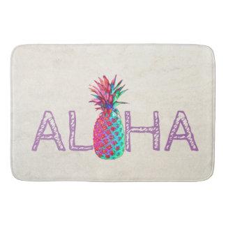 Alfombrilla De Baño Piña adorable del Hawaiian de la hawaiana