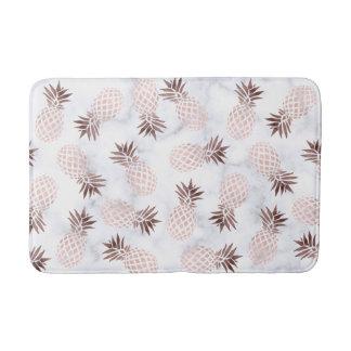 Alfombrilla De Baño piña color de rosa de mármol blanca moderna