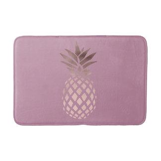 Alfombrilla De Baño piña tropical color de rosa clara elegante del