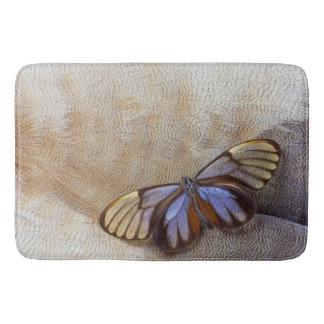 Alfombrilla De Baño pluma egipcia del ganso de la mariposa del