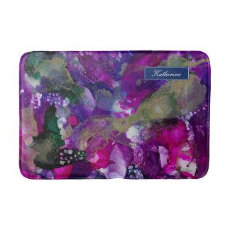 Alfombrilla De Baño Púrpura dramática del extracto de las tintas