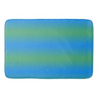 Alfombrilla De Baño Rayas azules y verdes de la pendiente