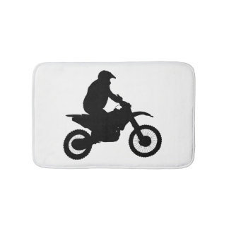 Alfombrilla De Baño Silueta del motocrós
