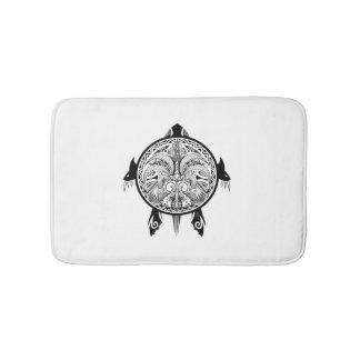 Alfombrilla De Baño Tatuaje tribal del escudo de la tortuga
