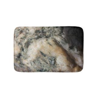 Alfombrilla De Baño Textura mineral del cuarzo blanco y negro