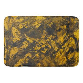 Alfombrilla De Baño Tinta negra en fondo amarillo