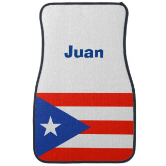Alfombrilla De Coche Boricua personalizado Bandera 4Ana puertorriqueño