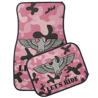 Alfombrilla De Coche Camuflaje negro rosado personalizado Camo de Eagle