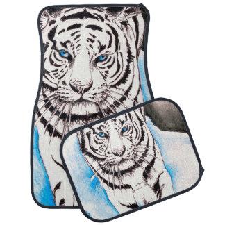 Alfombrilla De Coche Cerda blanca del tigre siberiano