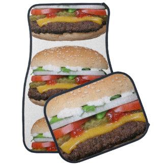 Alfombrilla De Coche cheeseburger delicioso con la fotografía de las