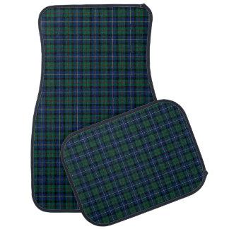 Alfombrilla De Coche Clan MacLeod del tartán azul marino y verde de
