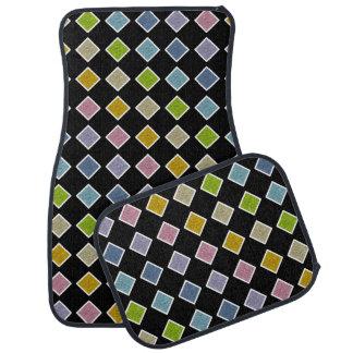 Alfombrilla De Coche Diamantes en colores pastel estáticos resumidos