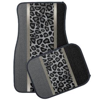 Alfombrilla De Coche Diseño animal gris, negro y del leopardo elegante