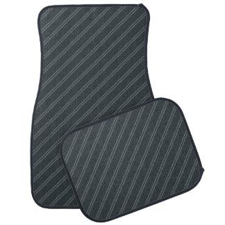 Alfombrilla De Coche El gris con el Pin doble raya el sistema completo