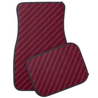 Alfombrilla De Coche El rojo con el Pin doble raya el sistema completo