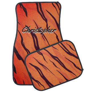 Alfombrilla De Coche El tigre personalizado raya el naranja y el negro