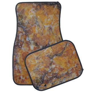 Alfombrilla De Coche Falsa impresión de piedra de mármol de Brown