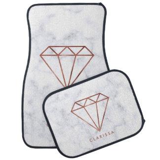 Alfombrilla De Coche falso mármol color de rosa claro elegante del