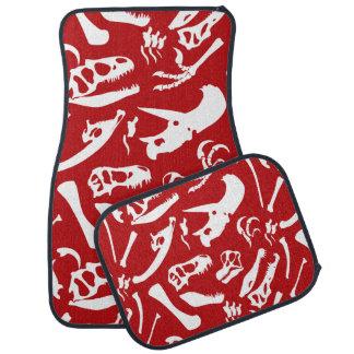 Alfombrilla De Coche Huesos de dinosaurio (rojos)