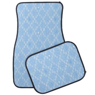 Alfombrilla De Coche Impresión azul clara del modelo del diamante