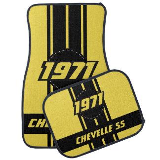 Alfombrilla De Coche La raza doble amarilla raya el | personaliza