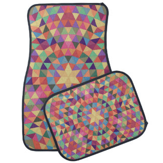 Alfombrilla De Coche Mandala 1 del triángulo