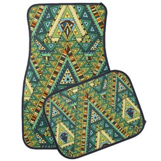 Alfombrilla De Coche Modelo étnico del boho amarillo verde