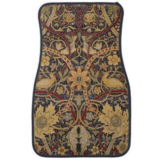 Alfombrilla De Coche Modelo floral de la tela de la tapicería del