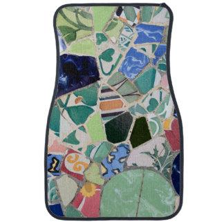 Alfombrilla De Coche Mosaicos de Guell del parque