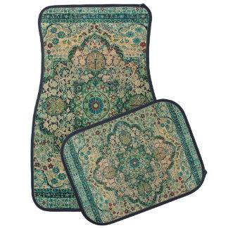 Alfombrilla De Coche Motivo tribal floral colorido verde en colores