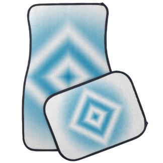 Alfombrilla De Coche pendiente azul del diamante del Personalizar-cielo