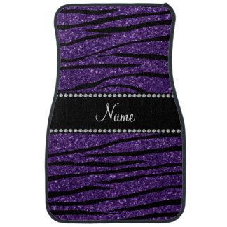 Alfombrilla De Coche Personalice las rayas púrpuras conocidas de la
