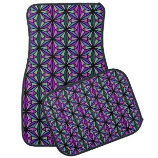 Alfombrilla De Coche Púrpura y sistema del diseño geométrico de la