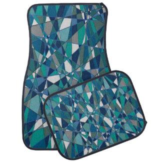 Alfombrilla De Coche Sistema decorativo del estilo azul de la gema de 4