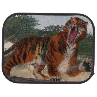 Alfombrilla De Coche Tigre que ruge - 3D rinden