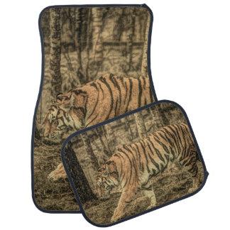 Alfombrilla De Coche Tigre salvaje majestuoso de la fauna del arbolado