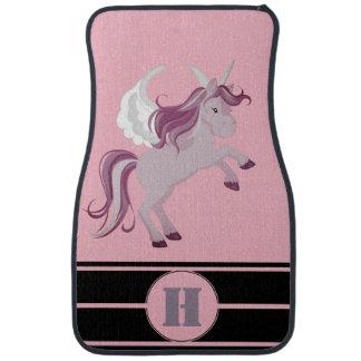 Alfombrilla De Coche Unicornio púrpura rosado personalizado que compite