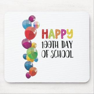 Alfombrilla De Ratón 100o día feliz de escuela. Globos