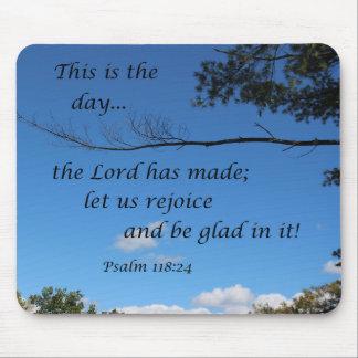 Alfombrilla De Ratón 118:24 del salmo éste es el día que el señor ha