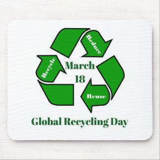 Alfombrilla De Ratón 18 de marzo, diseño de reciclaje global del día