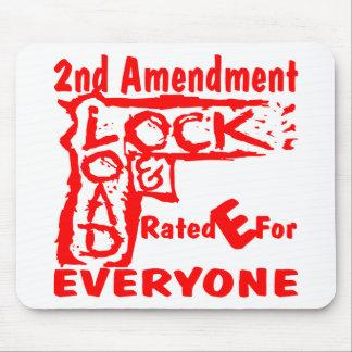Alfombrilla De Ratón 2do Cerradura y carga E clasificada de la enmienda