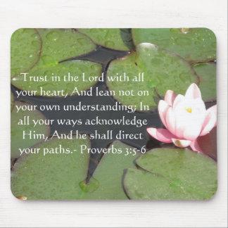 Alfombrilla De Ratón 3:5 inspirado de los proverbios de la cita de la b