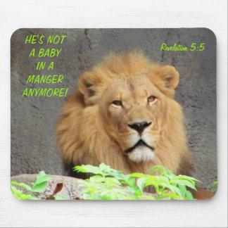 Alfombrilla De Ratón 5:5 de la revelación con el león masculino no un