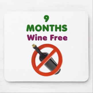 Alfombrilla De Ratón 9 meses de vino liberan, mamá embarazada, regalo