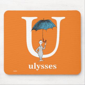 Alfombrilla De Ratón ABC del Dr. Seuss: Letra U - El blanco el   añade