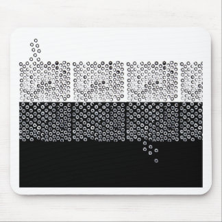 Alfombrilla De Ratón Abstracción blanco y negro