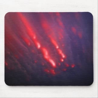Alfombrilla De Ratón Abstracción roja y púrpura de la nube
