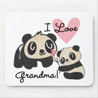 Alfombrilla De Ratón Abuela del amor de los osos de panda I