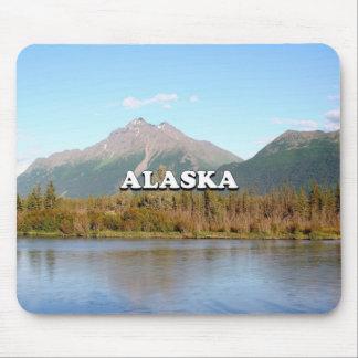Alfombrilla De Ratón Alaska: montañas, bosque y río, los E.E.U.U.