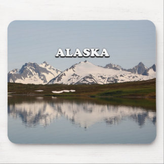 Alfombrilla De Ratón Alaska: Reflexiones del lago de montañas
